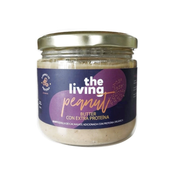 Crema de cacahuate (peanut butter) con extra proteína 340g / The Living