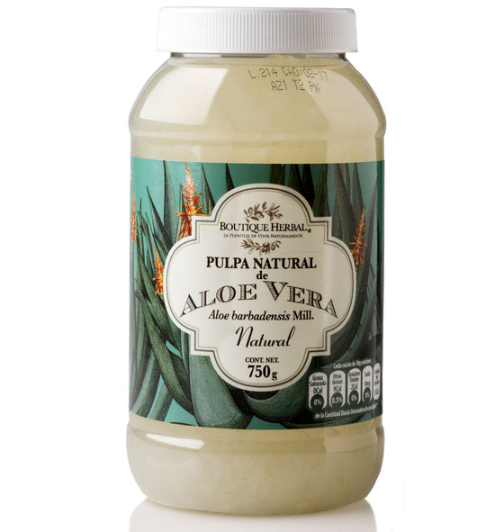 Pulpa de Aloe Vera comestible orgánico 750g/ Boutique Herbal