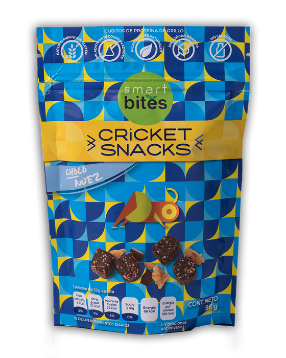 Cricket snacks Choco Nuez 96g/ Smart Bites