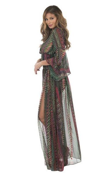 Multi-Colored Bell Sleeve Set