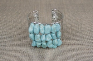 Turquoise Nugget Cuff B504