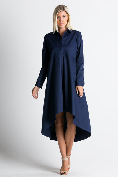 Button Up Shirt Dress/ D3050