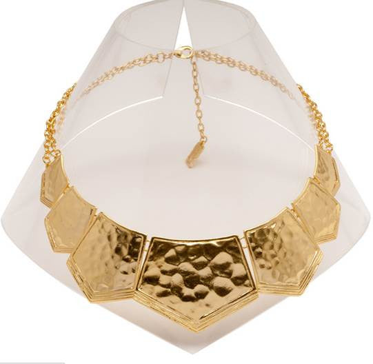 Matte Gold Egyptian-Inspired Statement Necklace