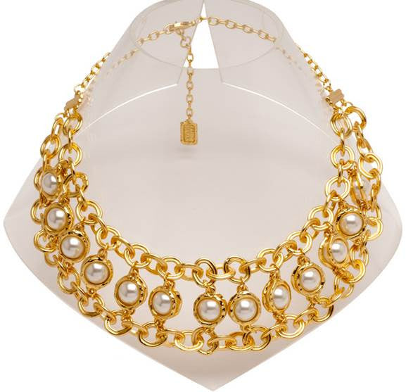 Matte Gold Elegant Statement Necklace