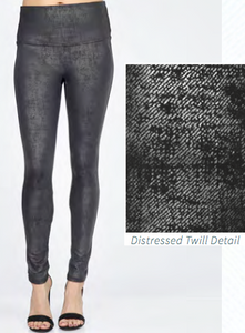 Distressed Twill Legging