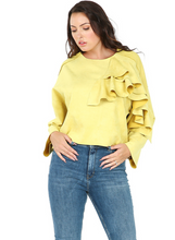 Load image into Gallery viewer, Ruffle Suede Top