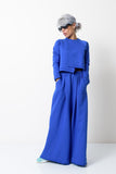 Royal Blue Two Piece Tracksuit Set For Women