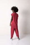 Red Two Piece Loose Tracksuit
