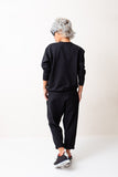 Woman Black Casual Two Piece Tracksuit