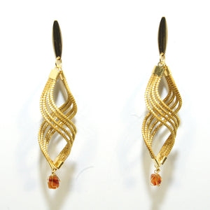 Wavy Stone Earrings