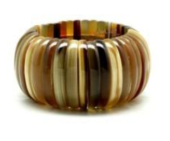 Flexible Layered Natural Bracelet (Q9977)