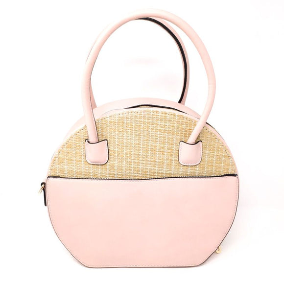 Round Color Block Vegan Handbag