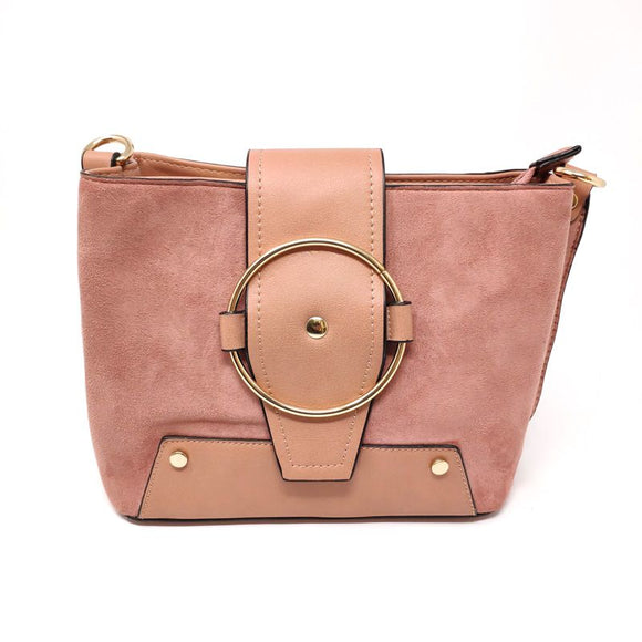 Vegan Suede and Leather Handbag