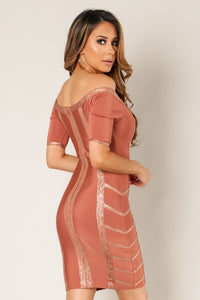 Melissa Shimmer Bandage Dress