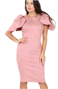 Leaf Layered Sleeve Dress
