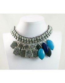 Eclectic Blue and Silver Necklace