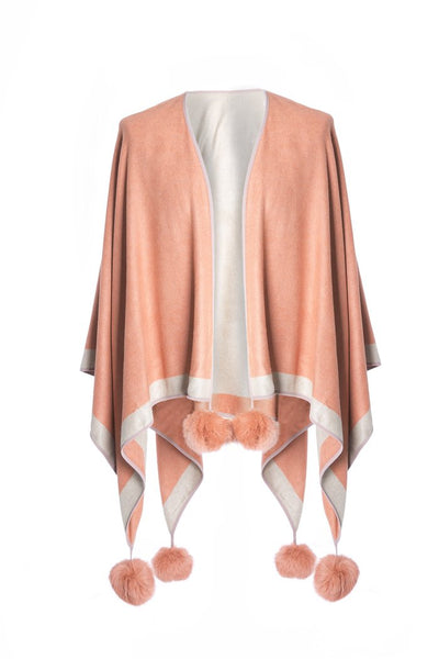 Silk and Cashmere Blend Reversible Cape