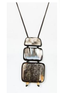 Three Squares Horn Necklace