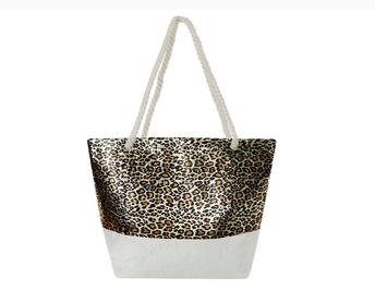 Timmy Woods Shine Animal Print Tote