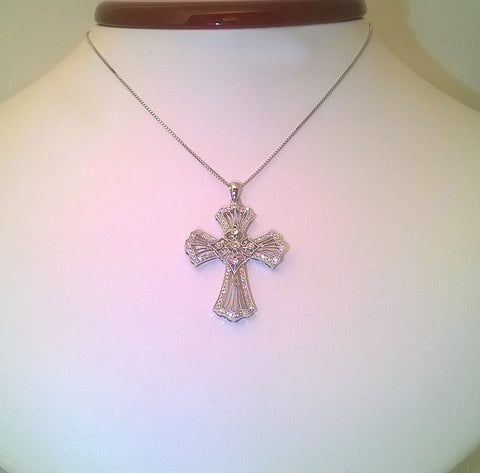 Diamnod Cross Pendant