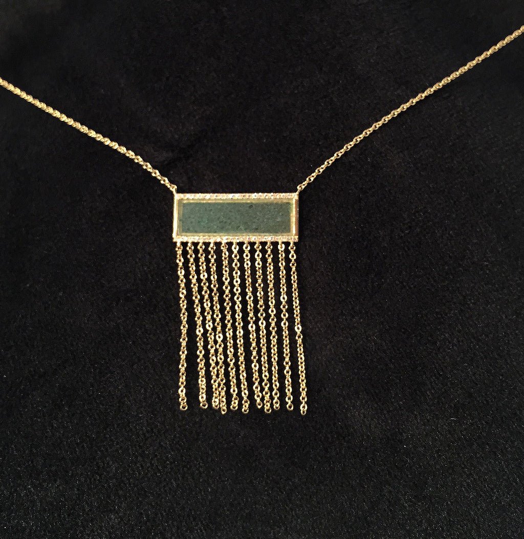 Ladies 14kt yellow gold fashion necklace