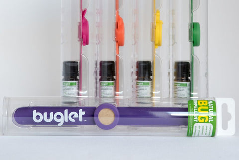 BUGLET  PINK Funny Bunny (kit incl. one bottle of repellent oil) - All Natural Bug Repellent Bracelet