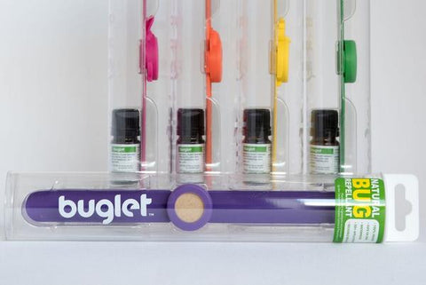 BUGLET RED Rooster (kit incl. one bottle of repellent oil) - All Natural Bug Repellent Bracelet
