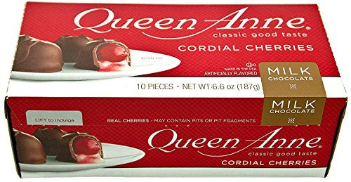 Chocolates Queen Anne - Chocolate con leche y Cereza Cordíal 187 gr