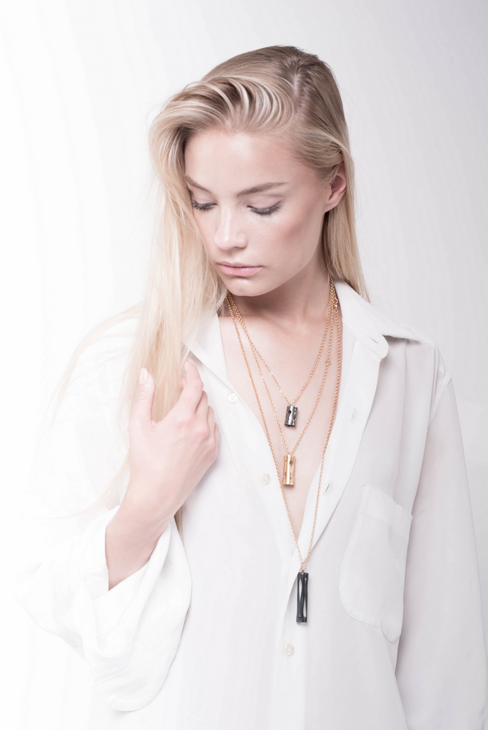 Marina Skia layered necklaces