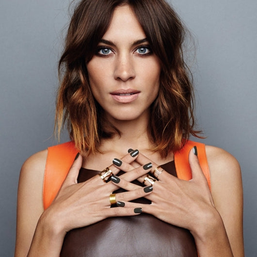 Alexa Chung wearing Marina Skia jewellery from Song of Jewellery