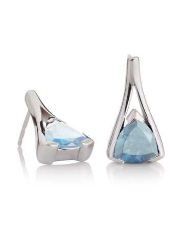 Valentine Blue Topaz Sterling Silver Earrings