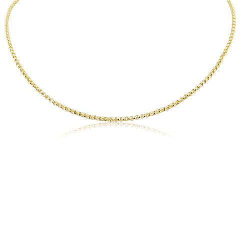 14ct Gold Fill Bead Chain Necklace