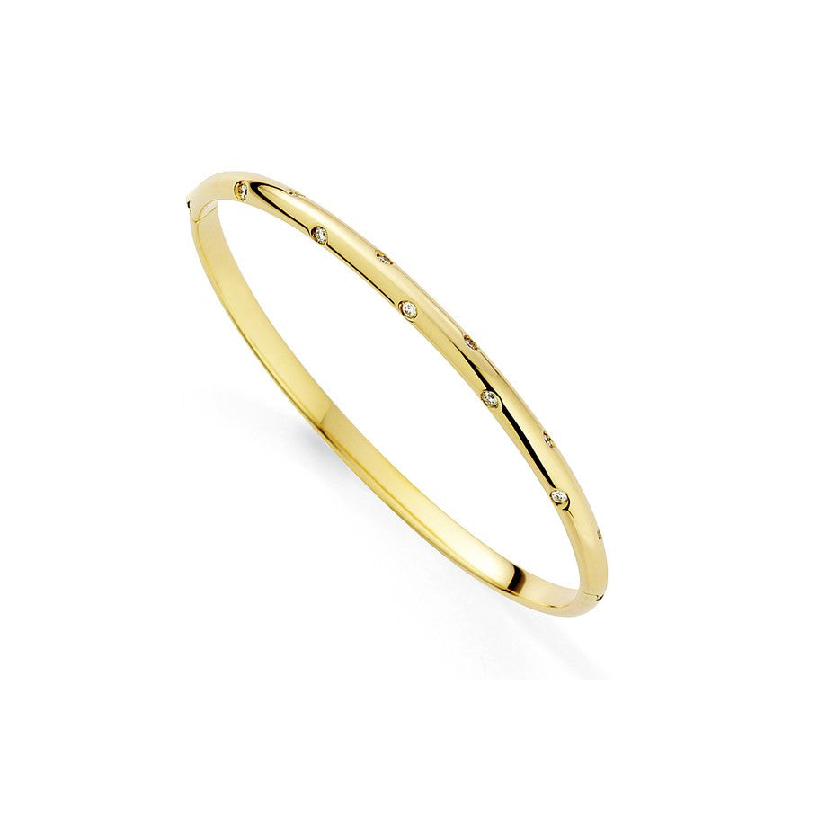 Galaxy 18ct Gold Bangle With Diamonds