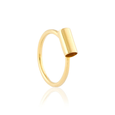 Inner Space Gold Vermeil Ring by Kassandra Lauren Gordon - Art Jewellery Store: Song of Jewellery