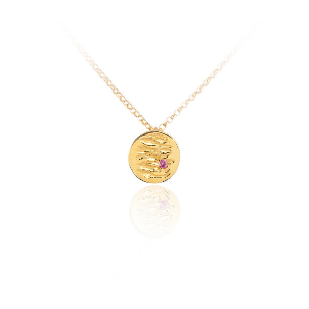 Jupiter Petite Gold Vermeil Sapphire Necklace by Kassandra Lauren Gordon - Art Jewellery Store: Song of Jewellery