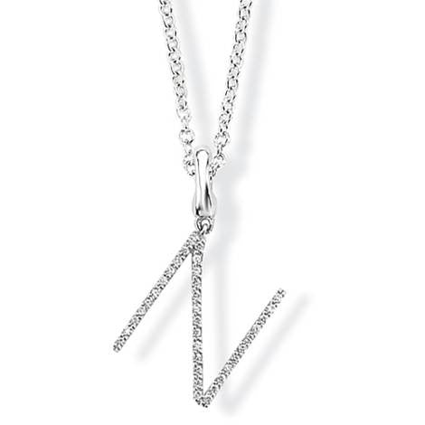 Initial Pendant Necklace - Argent London | Song of Jewellery