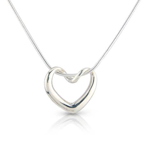 Silver Heart Pendant - Argent London | SOJ UK. British contemporary jewellery designer.