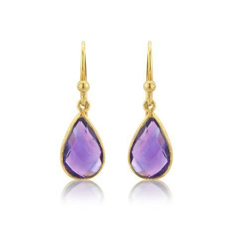Amethyst Drop Earrings by Argent London - Art Jewellery Store: Song of Jewellery