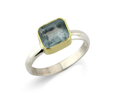 Rectangular Aquamarine Ring - Argent London | Song of Jewelllery