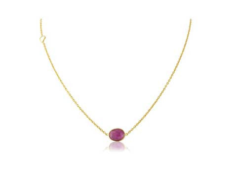 Ruby Sapphire Necklace - Argent London | Song of Jewellery