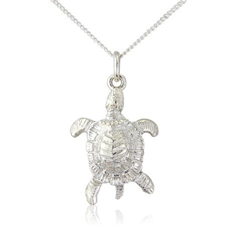 Turtle Pendant Necklace by Argent London - Art Jewellery Store: Song of Jewellery