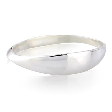 Silver Elliptical Bangle by Argent London - Art Jewellery Store: Song of Jewellery