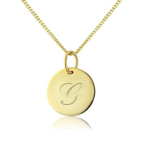 Gold Disc Pendant Necklace by Argent London - Art Jewellery Store: Song of Jewellery