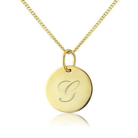 Gold Disc Pendant Necklace