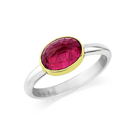 Faceted Pink Tourmaline Ring - Argent London | Song of Jewelllery