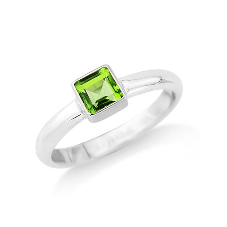 Square Peridot Ring - Argent London | Song of Jewelllery