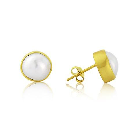 Pearl Stud Earrings by Argent London - Art Jewellery Store: Song of Jewellery