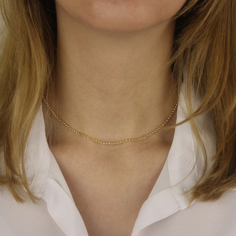 14ct Gold Fill Bead Chain Necklace by Argent London - Art Jewellery Store: Song of Jewellery