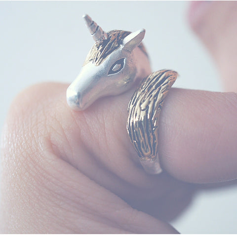 Gold Silver Unicorn Ring