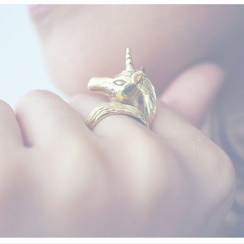 Golden Unicorn Ring